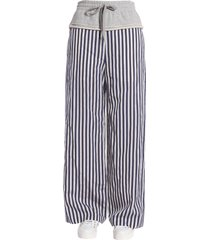 t by alexander wang striped wide leg trousers