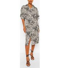 animal print bodycon midi dress, cream