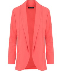 basic blazer koraalrood