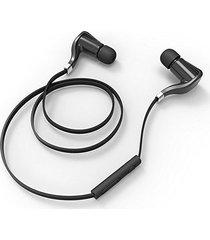 audífonos bluetooth manos libres inalámbricos, bh35 inalámbrico estéreo audifonos bluetooth manos libres  cancelación de ruido con auriculares de micrófono deportes (negro)