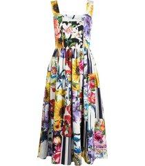 dolce & gabbana floral patchwork print dress