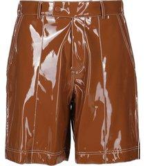 brown vinyl shorts