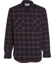 carhartt black shirt with red check