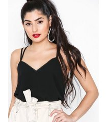 new look button lace back cami linnen