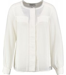 pepe jeans off white blouse