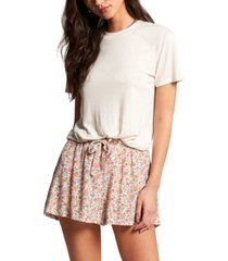 volcom women's some thyme floral-print shorts