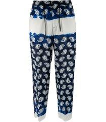 msgm paisley print trousers
