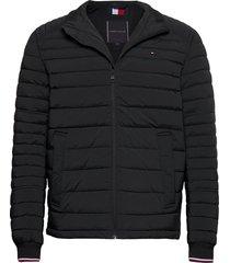 stretch quilted jacket fodrad jacka svart tommy hilfiger