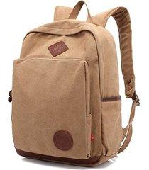 mochila para hombre, nuevos hombres mochila de lona mochilas