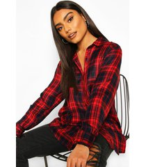 flanneled shirt, red