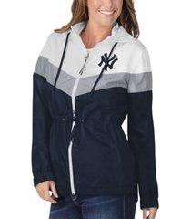 g-iii sports new york yankees women's stadium lightweight jacket