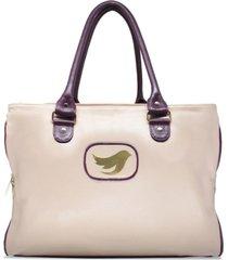 bolsa de maternidade relicário de couro isabela nude