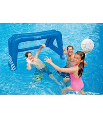 juego inflable  de waterpolo, marca intex, 140 x 89 x 81