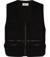 ambush multi pocket vest - black