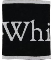 off white logo scarf