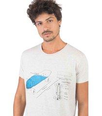 t-shirt estampada elementos skate cru cru/gg - kanui