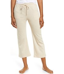 women's socialite women's tie waist crop wide leg pants, size xx-small - beige
