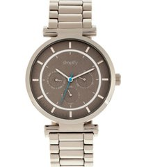 simplify quartz the 4800 silver case, grey dial, alloy watch 44mm