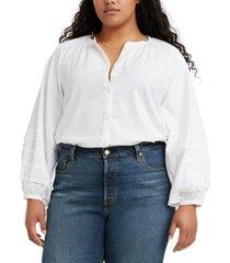 levi's trendy plus women's genevieve top