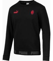 ac milan football culture sweater voor heren, rood/zwart, maat xxl   puma