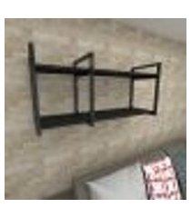 prateleira industrial para sala aço cor preto prateleiras 30 cm cor preto modelo ind19psl