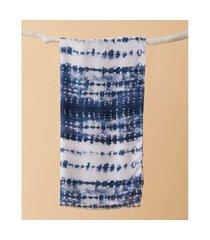 lenço estampado - lenço nolita cor: azul - tamanho: único