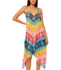 bleu by rod beattie good vibrations chiffon handkerchief-hem dress cover-up women's swimsuit