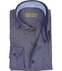john miller dress shirt donkerblauw tailored fit