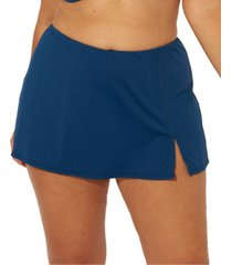bleu by rod beattie plus size slit swim skirt women's swimsuit
