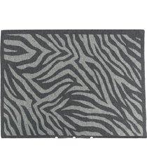 ami amalia zebra print pillow case - grey