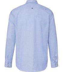 overhemd van 100% katoen met faux uni-dessin van maerz muenchen blauw