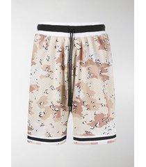 john elliott camouflage-print mesh shorts