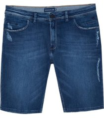 bermuda dudalina jeans stretch 5 pockets masculina (jeans escuro, 64)
