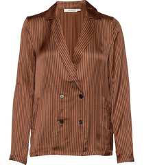 veronica shirt ye18 blazer kavaj brun gestuz