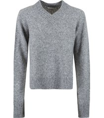 helmut lang brushed vnk tie sleeve sweater