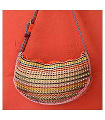soda pop-top shoulder bag, 'rainbow wishes' (brazil)