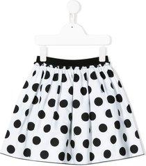 il gufo full shape polka dot skirt - black