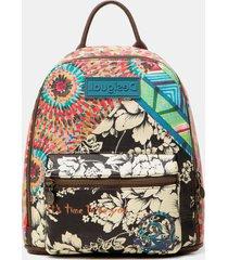 mini-backpack multiprint message - green - u
