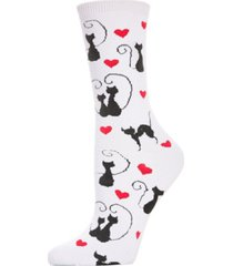 memoi women's love cats crew socks