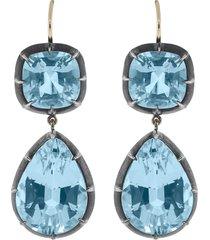 blue topaz drop earrings