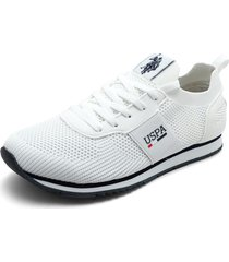 tenis blanco-azul navy us polo assn