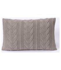 capa de almofada tricot 60x40 c/zíper sofa trico cod 106560 cinza claro