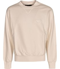 prada chest logo ribbed sweatshirt