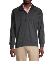 bonobos golf men's half-zip golf sweater - heather charcoal - size l