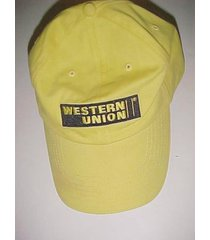 western union financial company 1851 adult unisex yellow baseball cap one size