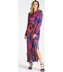 długa koszulowa sukienka marciano wzorzysta paisley