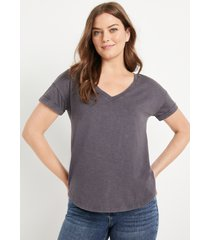 maurices womens 24/7 gray drop shoulder tee