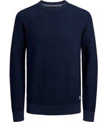 trui jack & jones 12174284 jjowen knit crew neck denim blue