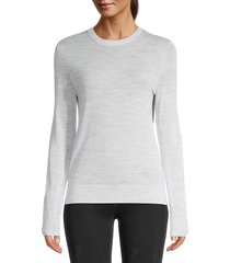 zadig & voltaire women's miss m embellished skull merino-wool sweater - grey - size l