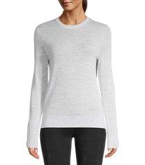 zadig & voltaire women's miss m embellished skull merino-wool sweater - grey - size xs